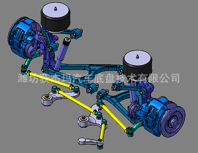 Front Axle System DD075G for Coaches